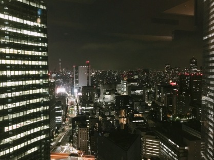 Park Hotel THE 汐留看出去的夜景。